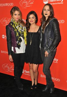Ashley Benson, Lucy Hale, and Troian Bellisario - PLL & Ravenswood Screening Premiere