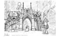 Monsters University concept art by Peter Chan