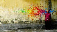 Urban Origami Murals in Vietnam, Hong Kong and France by Mademoiselle Maurice (11 Pictures) > Design und so, Installationen, Sculptures, Streetstyle, urban art > colors, hong kong, installations, murals, public art, streetart, vietnam