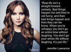 Wise words of Jennifer Lawrence.