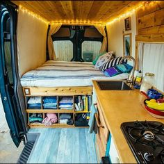 Really dig this van setup. #vandwelling #vanlife #vans #rubbertramp…