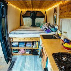 Really dig this van setup. #vandwelling #vanlife #vans #rubbertramp…
