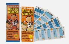 Brain Quest...played this in the car on road trips....Children of the 90s: Don't let them know it's educational