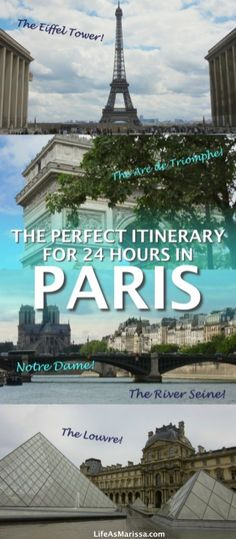 The perfect itinerary for a single day in Paris. #france #paris