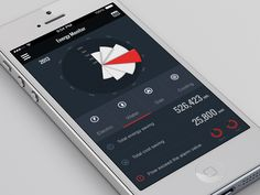 Slick calendar app. Watch the animation!!! found on Dribbble.