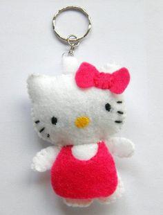 Hello Kitty Keyring - Felt