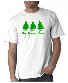 Run Forest Run T-shirt from DesignerTeez