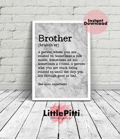 Brother Gift Funny From Sister For Big Marble Art Quotes Ideas Best