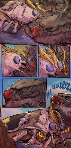 after-battle snuggles are nice by legendfromthedeep.deviantart.com on @DeviantArt