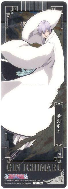 BLEACH Anime Gin Ichimaru Bookmark  Metallic #14th