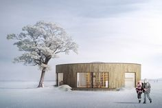 Wooden cottage, Buildings with the scent of wood - competition 2015