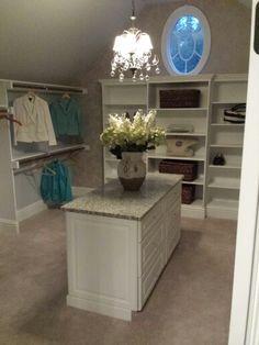 Large closet with Island