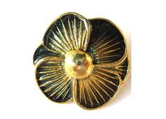 Hey, I found this really awesome Etsy listing at https://www.etsy.com/listing/62680543/vintage-button-black-flower-enamel-metal