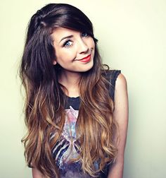 Zoe Sugg's beautiful ombre hair, shes a real girly girl and makes wonderful Yoitube videos, search zoella. C x
