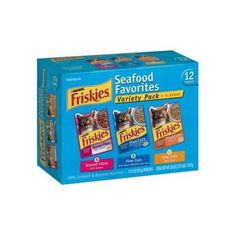 I'm learning all about Friskies Cat Food Seafood Favorites Variety Pack at @Influenster!