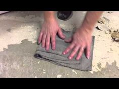 The easiest way to remove linoleum from concrete - YouTube