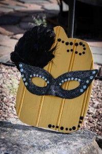 Masquerade ball pumpkin