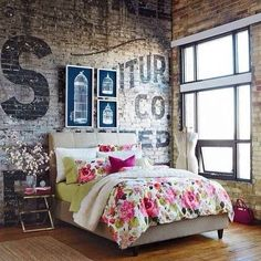 I hate floral, but mix up the bedspread and I would totally be at home