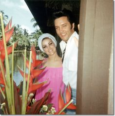 Elvis and Priscella on vacation in Hawaii, May 1968