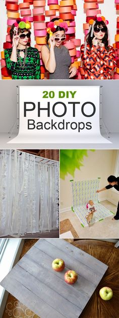 20 easy DIY photo backdrops for better blog posts, product shots, or just for fun!