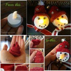 easy snowman ornaments   Easy snowman crafts