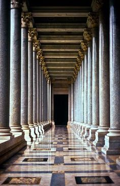 Corridor of Columns, Basilica of Saint Paul Outside the Walls, Rome, Italy© Doug Hickok All Rights ReservedMore here… hue and eye