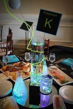 Science Themed Bar Mitzvah Centerpiece