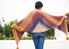 Gorgeous drape and color striping.