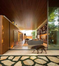 Tetris House by Studio MK27 | Concrete and grass combo