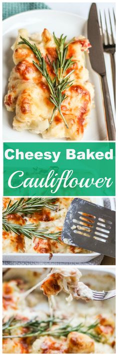 Cheesy Baked Cauliflower with Prosciutto - A perfect side dish to serve on Thanksgiving!