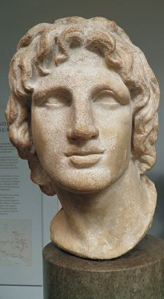 Marble portrait of Alexander the Great Hellenistic Greek, 2nd-1st century BC, said to be from Alexandria, Egypt, British Museum | Flickr - P...