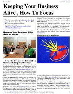 keeping-your-business-alive-how-to-focus by David Braithwaite via Slideshare