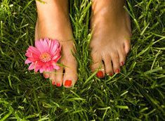 barefoot on the grass - one of the best feelings in the world. for sure
