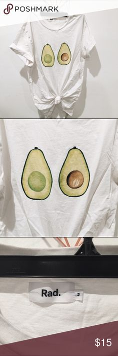 Avocado tits shirt From rad clothing. Never used, perfect condition Urban Outfitters Tops Tees - Short Sleeve