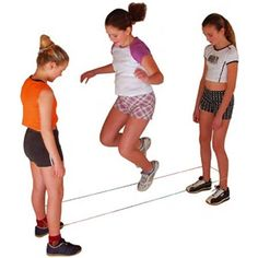 What did we call these? Chinese jump ropes? Anyway, I remember playing with these all the time.