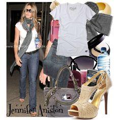 """Dress like Jennifer Aniston"" by kuki2 on Polyvore"