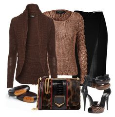 """""""Black & chocolate"""" by susans-sg ❤ liked on Polyvore featuring Roland Mouret, rag & bone, Jane Norman, Giuseppe Zanotti and Jimmy Choo"""