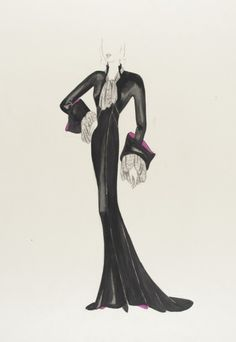 Orry Kelly - Costume sketch from 1930s Costumes, Theatre Costumes, Ballet Costumes, Movie Costumes, Costume Design Sketch, Best Costume Design, Hollywood Costume, Hollywood Dress, Kelly Fashion
