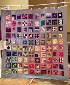 * Completed quilt made by my Modern Quilt group using blocks from Tula Pink's City Sampler: 100 Modern Quilt Blocks