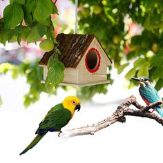 Creative Bird Nest Simulated Bark House Shape Bird Breeding Box Pet Toys at Banggood Sierra Leone, Belize, Uganda, Sri Lanka, Nepal, Hamsters, Mongolia, Seychelles, Ecuador