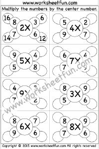 Math Worksheets for all kinds of functions. Multiplication