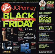 JCPenney Black Friday Flyer 2013