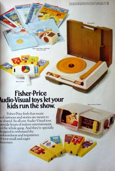 Fisher Price. Still have the record player. And it still works. Plays real records