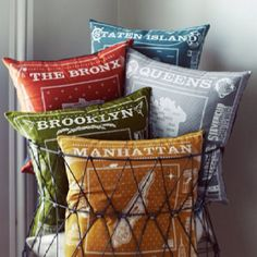 Borough pillows!