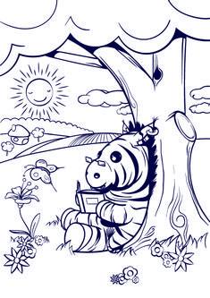 Learn How to Draw a Zebra – Cartoon Scene Step by Step Tutorial