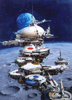 John Berkey. As a child of the 70s, Berkey's art made me a sci-fi fan for life.