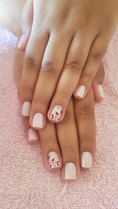 Nude Nails, Gel Nails, Acrylic Nails, Pretty Hands, Nail Bar, Nail Tutorials, Short Nails, Manicure And Pedicure, Makeup Tips