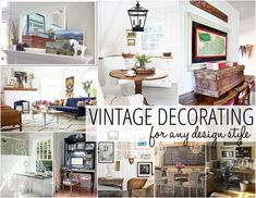Great tips for vintage decorating - in any style.