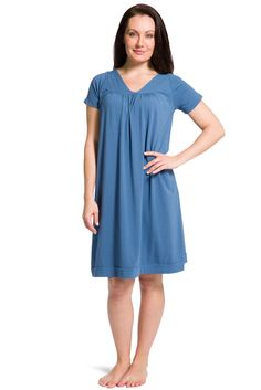 10de3a3c8f Tranquil Dreams Short Sleeve Nightgown  Ecofabric  Organic Cotton   Ba – Fishers  Finery Nightgowns
