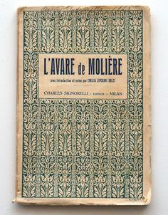 L'Avare de Moliere libro vintage anni 20 Signorelli di RosaGeranio